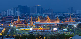 Het vieren verjaardag (Vaderdag), Koning van Thailand Royalty-vrije Stock Foto's