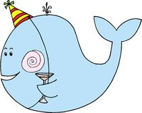 Het vieren walvis Royalty-vrije Stock Afbeeldingen