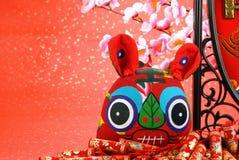 Het vierende Chinese Jaar van de Tijger Stock Foto