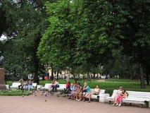 Het vierkant in St. Petersburg Stock Afbeelding