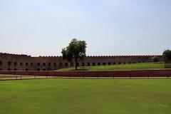 Het vierkant van Agra-fort royalty-vrije stock afbeelding