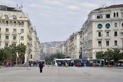 Het Vierkant van Aristotelous, Thessaloniki, Griekenland stock foto's