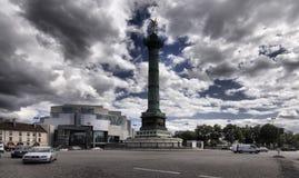 Het vierkant van Bastille in Parijs Royalty-vrije Stock Foto's