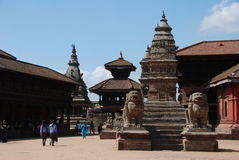 Het vierkant van Bhaktapur - Nepal Stock Foto's