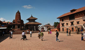 Het vierkant van Bhaktapur - Nepal Stock Afbeelding