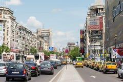 Het Vierkant van Boekarest Unirii Royalty-vrije Stock Afbeeldingen