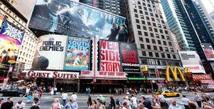Het Vierkant van Broadway af en toe Stock Afbeeldingen