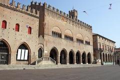 Het vierkant van Cavour van het Riministadhuis Stock Afbeeldingen