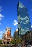 Het Vierkant van Copley, Boston Stock Foto