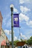 Het Vierkant van de Covingtonstad, Covington, TN stock afbeeldingen