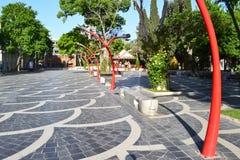 Het Vierkant van de fontein Stock Afbeeldingen
