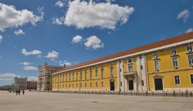 Het Vierkant van de handel, Lissabon Stock Afbeelding