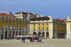 Het Vierkant van de handel, Lissabon, Portugal Stock Afbeeldingen