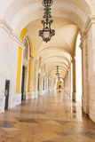 Het vierkant van de handel in Lissabon, Portugal Royalty-vrije Stock Fotografie