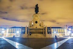 Het Vierkant van de handel in Lissabon portugal stock foto's