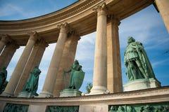Het Vierkant van de held in Boedapest Stock Foto