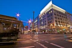 Het Vierkant van de kabelwagenUnie in San Francisco van de binnenstad royalty-vrije stock foto's