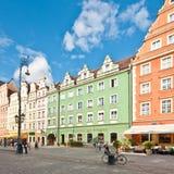 Het Vierkant van de markt - hoofdvierkant in Wroclaw, Polen Royalty-vrije Stock Foto's