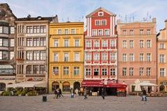 Het Vierkant van de markt - hoofdvierkant in Wroclaw, Polen Royalty-vrije Stock Foto