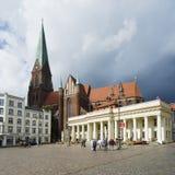 Het vierkant van de markt in Schwerin Royalty-vrije Stock Afbeeldingen