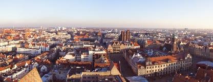 Het Vierkant van de markt in Wroclaw stock afbeelding