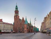 Het Vierkant van de markt in Wroclaw Stock Foto's