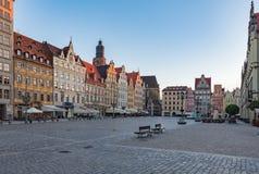 Het Vierkant van de markt in Wroclaw Stock Afbeeldingen