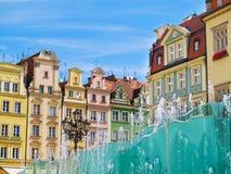 Het vierkant van de markt, Wroclaw, Polen Royalty-vrije Stock Fotografie