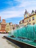 Het vierkant van de markt, Wroclaw, Polen Stock Afbeeldingen