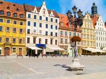 Het vierkant van de markt, Wroclaw, Polen Stock Fotografie