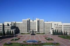 Het vierkant van de onafhankelijkheid in Minsk Stock Foto