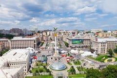 Het Vierkant van de onafhankelijkheid van Kiev, de Oekraïne Royalty-vrije Stock Foto