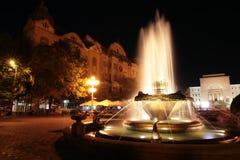 Het Vierkant van de Opera van Timisoara, Roemenië Royalty-vrije Stock Afbeeldingen