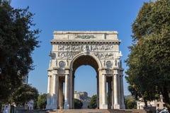 Het vierkant van de overwinning in Genua royalty-vrije stock foto's