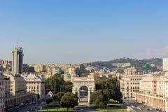 Het vierkant van de overwinning in Genua royalty-vrije stock foto