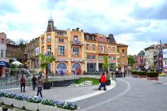 Het vierkant van de Plovdivstad, Bulgarije royalty-vrije stock fotografie
