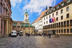 Het Vierkant van de primaat in Bratislava, Slowakije Royalty-vrije Stock Fotografie