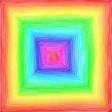 Het vierkant van de regenboog Stock Foto's