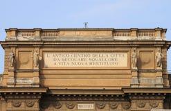 Het Vierkant van de republiek in Florence Royalty-vrije Stock Foto