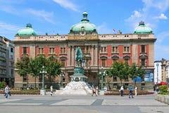 Het Vierkant van de republiek van Belgrado, Servië Stock Foto's