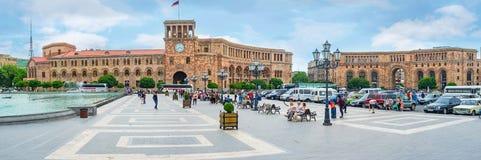 Het Vierkant van de Republiek van Yerevan royalty-vrije stock afbeeldingen