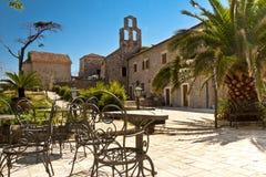 Het vierkant van de schoonheid in Budva - Montenegro Royalty-vrije Stock Afbeelding