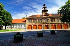 Het vierkant van de stad Stock Foto