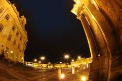 Het vierkant van de stad, Sibiu, Roemenië Royalty-vrije Stock Foto's