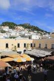 Het Vierkant van de Stad van Anacapri Royalty-vrije Stock Afbeeldingen