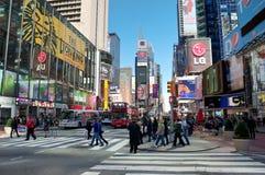 Het vierkant van de stadstijden van New York Stock Foto