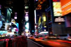 Het vierkant van de tijd bij nacht Royalty-vrije Stock Afbeelding