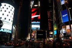 Het Vierkant van de tijd bij nacht Royalty-vrije Stock Afbeeldingen