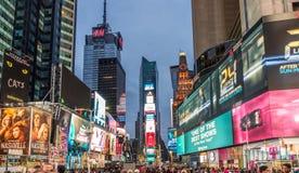 Het Vierkant van de Tijd van de Stad van New York Royalty-vrije Stock Afbeelding