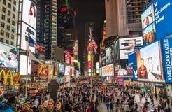 Het Vierkant van de Tijd van de Stad van New York Royalty-vrije Stock Foto